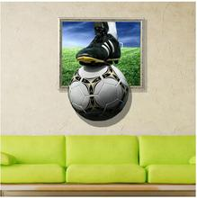 3D Wall Stickers Football Painting Kid's Room Ceiling Paintings Bedroom Football Wallpaper Home Wall Soccer World Painting