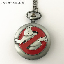 FANTASY UNIVERSE Freeshipping wholesale 20pc a lot Ghostbusters pocket watch Necklace Dia47mm OOOKK01
