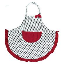 2015 Fashion Chefs Butchers Kitchen Cooking Women Lovely Bowknot Household Cleaning Aprons with Pocket(China)