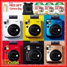 Fujifilm Instax Mini 70 + 50PCS Sheet Fujifilm Mini White Film with Free Camera Bag for Polaroid Photo Camera Instax Mini Film(China)