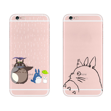 Cute Totoro Soft Tpu Case For Apple Iphone 6 6s Cover Alien Middle Finger Cat Transparent Cover For Iphone 6 6s Plus Phone Cases