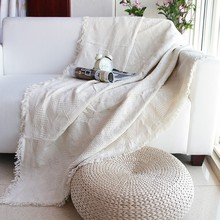 European style pure white cotton blanket, wearable comforter ,bed cover 230*250cm, pet blankets , anti-slip sofa cover blanket