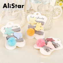 Girls Cartoon Bobby pins lovely cute heart star ball design hair accessories for children kids hairpins hairgrips #JH004