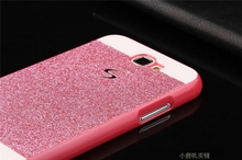 Gold / Silver Bling Cover Fashion Girl/Woman Case Glitter Back Hard PC S Line Case For Samsung Galaxy Note 2 N7100 Note2 II