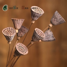 1PCS Mini natural Dry Lotus Dried Flowers True Flower Power Fake Flower Simulation The Sitting Room is Decorated