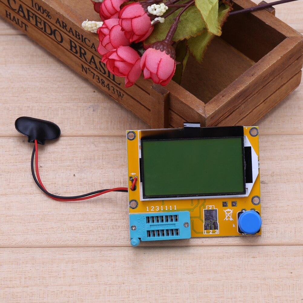 2X LCR T4 ESR Combo Digital Transistor Tester Diode Triode Capacitance indutor resistor MOS/PNP/NPN + Teste clipe 7