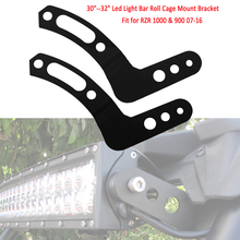 "2pcs Roll Cage Mount Bracket Mounting Brackets Fit For 30""-32"" LED Light Bar 07-16 Polaris RZR 1000 AM(China)"