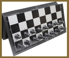 Free Shipping Magnetic Chess Pieces Set Staunton Style Chessmen Collection Portable Folding Board Chesses Game(China)