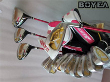 Boyea 3 Star Women Honma S-03 Full Set Golf Clubs Driver +Fairway Woods + Irons + Putter L Flex Graphite Shaft With Head Cover