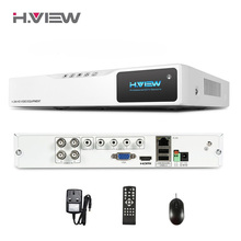 H.VIEW 4CH AHD HD NVR Hot DVR 720P CCTV Recorder Camera Network 4CH DVR Surveillance Video Recorder Audio Input