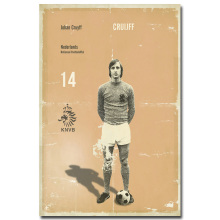 NICOLESHENTING Johan Cruyff Classic Football Soccer Star Art Silk Poster Print 13x20inches Sports Wall Pictures Room Decor 007