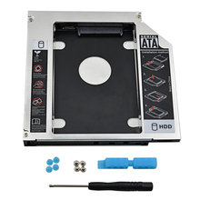 "Aluminum 2nd HDD Caddy 12.7mm SATA 3.0 SSD 2.5"" 1TB Hard Disk Drive HDD Enclosure Case for Notebook Laptop Optibay"