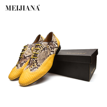 MeiJiaNa Top quality Leather Men Dress Shoes, Brand Man Business Oxfords Shoes(China)