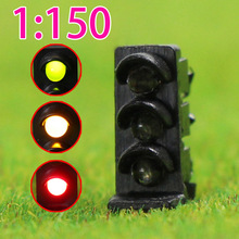 5PCS railway modeling N scale Flashing LEDs made Dwarf Signals for Railway signal 3 Aspects Model Traffic Lights flash