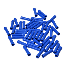 50 x cable connectors Butt connectors insulated crimp blue industrial goods 1.5-2.5mm