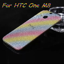 NEW!! Bling Glitter Shiny Crystal Diamond Full Body Front and Back Wrap Decal Film Sticker Skin For HTC One M8