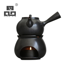 TANGPIN coffee and tea sets black crockery ceramic teapot alcohol furnace tea kettle japanese tea pot drinkware