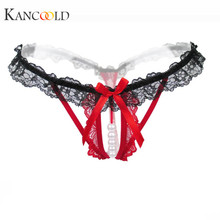 Buy KANCOOLD Panties panties women's Hollow briefs lace g string sexy low waist Pearls Lace Sexy Thong Lingerie Underwear nov22