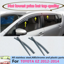 Car body Stick lamp Plastic Window glass Wind Visor Rain/Sun Guard Vent part 4pcs For Toyota EZ Verso 2012 2013 2014