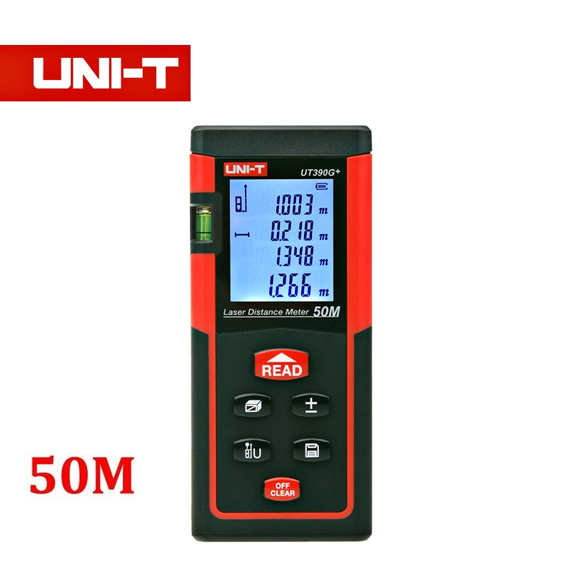 UNI-T Laser Distance Meter Range Finder of Electronic Tape Measure with Pythagorean Mode Area&amp;Volume Calculation with min/in/ft<br><br>Aliexpress