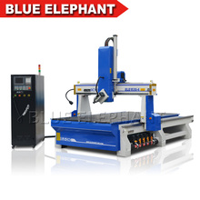cheaper 4 axis air cooled vacuum table ELE1325 diy cnc milling machine wood kitchen cabinet door flat ATC cnc router(China)