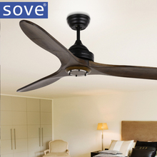 Sove Simple Vintage Ceiling Fan Wood Decor Room Fans Without Light Wooden Ceiling Fan Decor Remote Control Ventilador De Teto