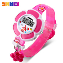 2017 New Sunflower Cute Kids Watches Children Watches LED Cartoon Silicone Digital Watch For Boys Girls(China)