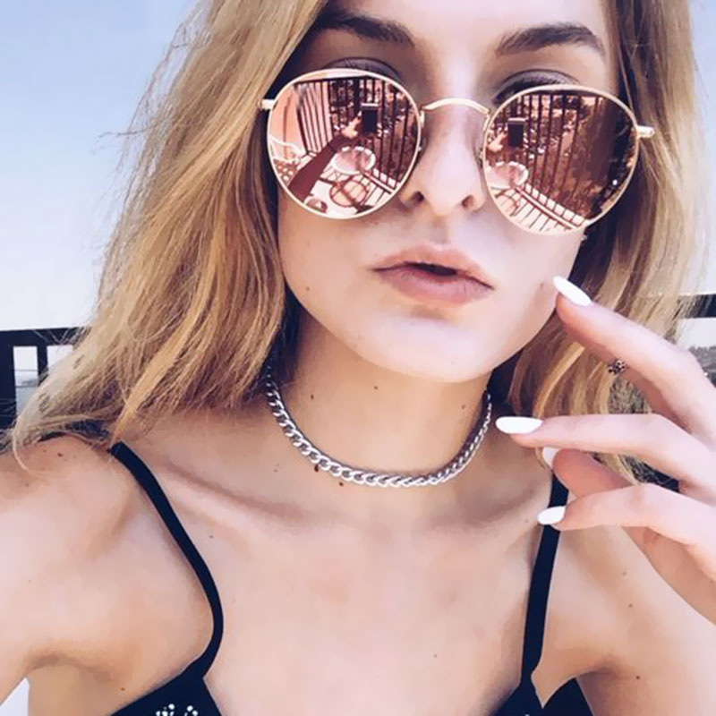 2019 Retro Round Sunglasses Women Brand Designer R...