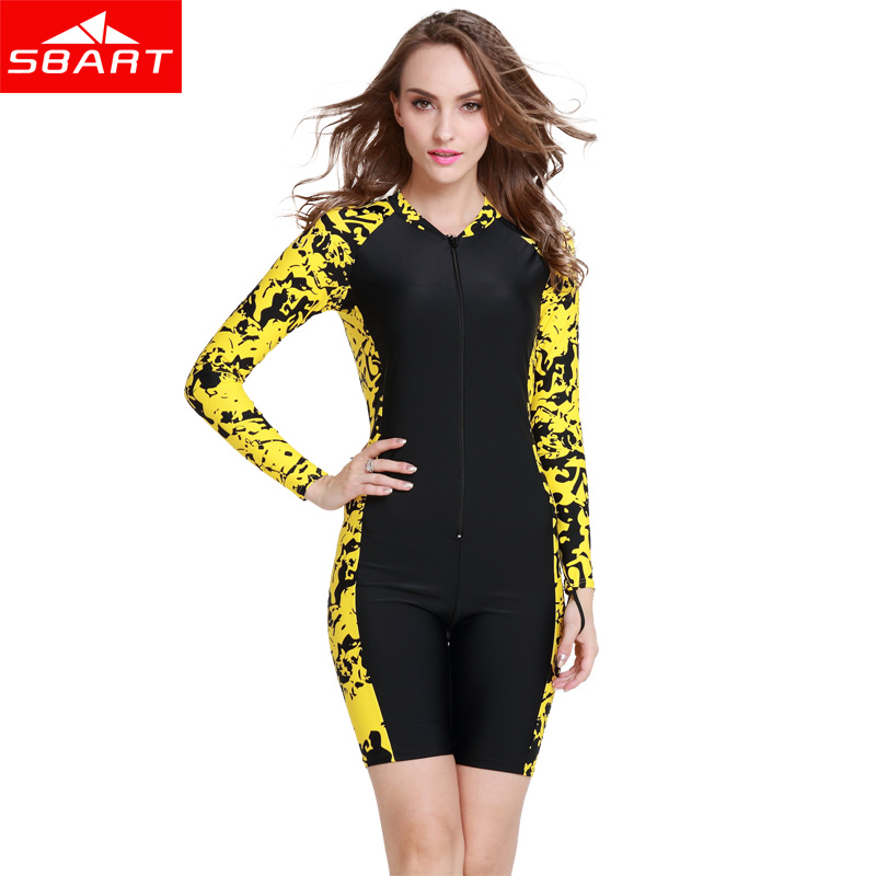 SBART Sexy Women One Piece Suit Anti-UV Scuba Diving Bathing Suit for Swimming Swimsuit Girls Lycra Dive Skins Rashguard Men N<br>