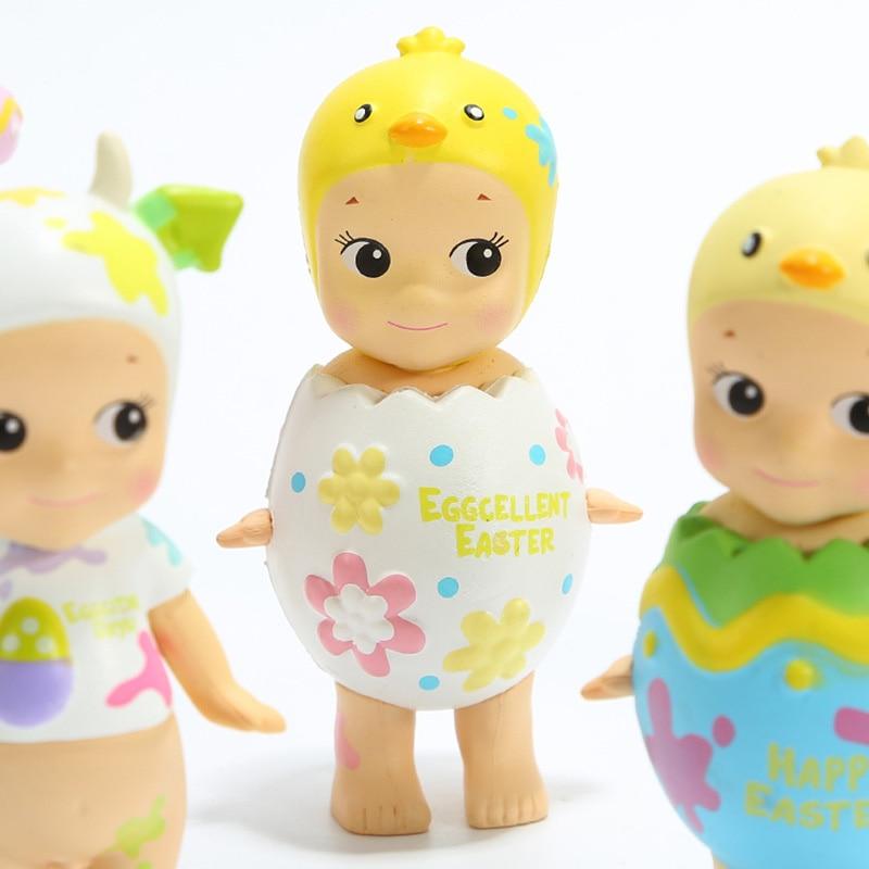 6pcs set Sonny Angel Mini Figure 2018 Version  Happy Easter Series PVC Action Figures Toys Dolls Gift for Kids Children  (7)