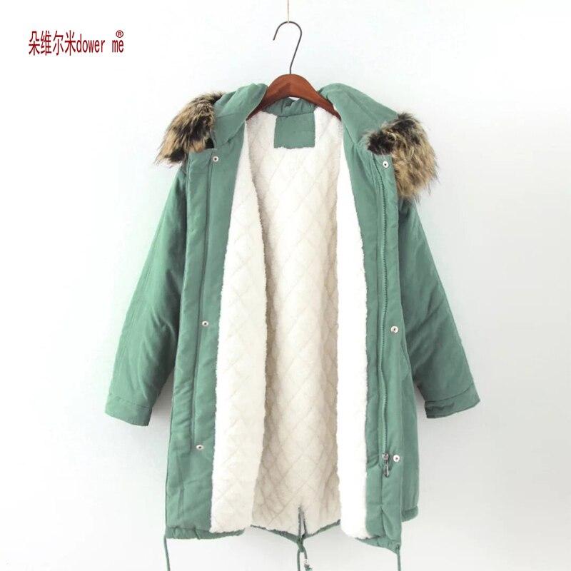 dower me Drop Shipping Plus Size Winer Coat Women Winter Jacket Cotton Padded Female Long Cashmere Coat Winter Jackets 4XLÎäåæäà è àêñåññóàðû<br><br>
