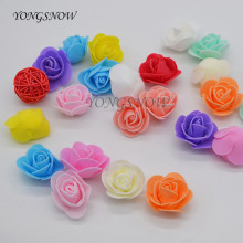 50Pcs/lot 3.5CM Foam Flowers Small PE Rose Artificial Flower Wedding Bride Bouquet DIY Wreath Wedding Party Decoration 9Z