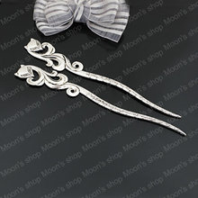 (27157)Bookmark & Hairpin Fox,Jewelry Findings,Accessories,Vintage charm,pendant,Alloy,Antique Silver,160*23MM 5PCS(China)