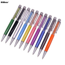 Delicate Crystal Pen Diamond Refills Office School Supplies Pens Pencils Writing Ballpoint Pens Gift Pen Nib 0.7mm