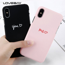 Buy Lovebay Cartoon Pig Love Heart Case iPhone X 8 7 6 6s Plus Couples Letter Phone Case Hard PC Back Cover iPhone 7 Plus for $1.27 in AliExpress store