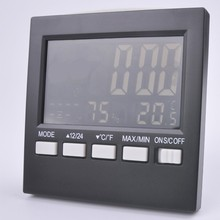 Free shipping, electronic digital temperature and humidity meter, LCD screen weather station, temperature and humidity(China)