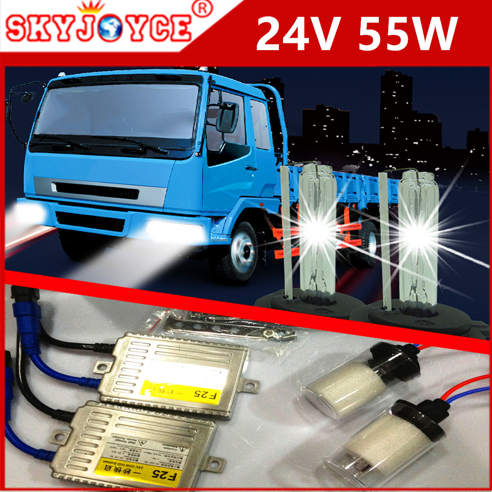 Fast Bright AC 55W xenon HID kit 24V truck hid xenon H11 H1 H3 H8 9005 H7 24V HID Truck Van Trailer Buses headlamp <br>