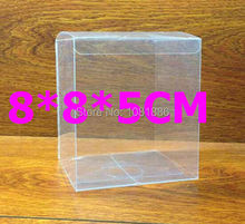size: 8*8*5cm Free Shipping packing transparent plastic clear PVC boxes wholesale