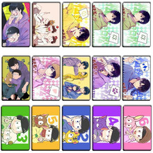 40 pcs/lot Fashion Cool Osomatsu san DIY Stickers Kids Classic Toys DIY Bank Bus ID Card Stickers Anime Cartoon Kids Party Gifts