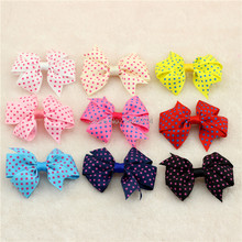 Kid Hair Accessories Little Polka Dot Ribbon Hair Bows Candy Colors Children Hair clip Hairpin Princess Butterfly headwear 18pc(China)