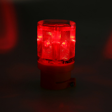 1PCS Traffic Warning Light 6 Led Solar Signal Beacon Lamps Industrial Road Lightsoutdoor lighting led solar alarm light 72*153mm