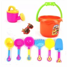 9pcs Kids Seaside Excavating Tools Enclosed Spade Shovel Sunglasses Outdoor Fun Hourglass Paddle Set Beach Sand Play Water Toy