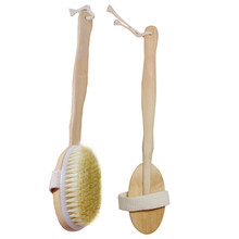 New Natural Bristle Long Handle Wooden Body Brush Skin Massager Brush Cleaning Bath Brush Cepillo de limpieza