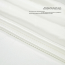 Natural white silk satin fabric soft silk cotton charmeuse lining