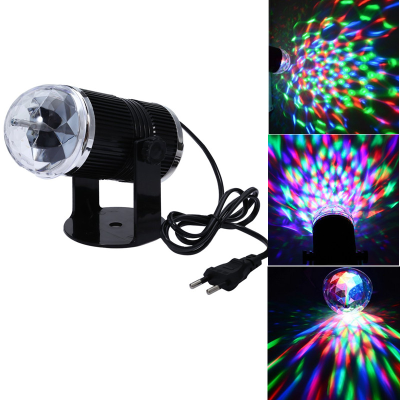 3w EU/US Plug Sound Activated RGB LED Crystal Stage Light Magic Ball Disco DJ Laser Lighting For Home Party Bar Stage Lighting<br><br>Aliexpress
