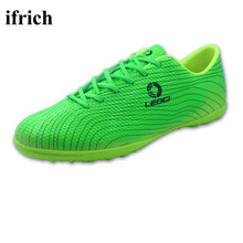 Ifrich Football Soccer Shoes For Men Kids Boys Soccer Cleats Green/Orange/Blue Turf Soccer Shoes Cheap Football Sneakers Men
