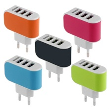 2016 New Useful Multi-use Universal Rapid Fast 3 USB Ports Travel Wall Charger Adapter EU Plug for Smartphone Hot(China)