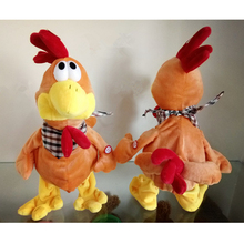 Soft Cute Stuffed Plush Talking Moving Cock Toy Lovely Rooster Shape Doll Gift For Children