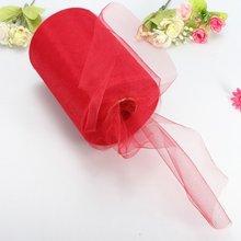 "Boutique  Soft 6""x100yd Tulle Roll Spool Wedding Craft Bridal   Party Decor 6""x300' New Red"
