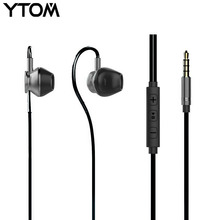 Original Metal earphone sport earbuds super bass headphones for apple iphone 5 6 xiaomi huawei smartphone with volume control(China)